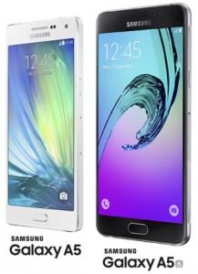 De Galaxy A5 uit 2014 en 2016