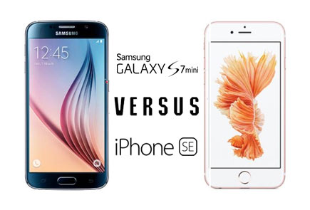 De Samsung Galaxy S7 Mini versus de iPhone SE