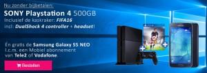Galaxy S5 Neo én gratis de PS4 inclusief FIFA16